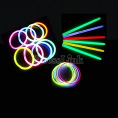 Multi Color Hot Glow Stick Bracelet Necklaces Neon Party Bright Colorful Fun - Home Page Glow In Dark Party, Glow Jars, Bright Decor, Neon Party, Neon Glow, Glow Sticks, Traditional Wedding, Party Supplies, Wedding Decorations