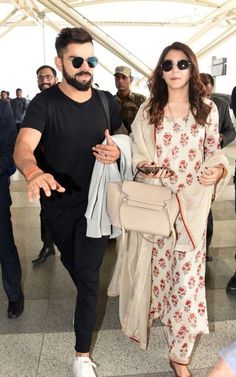 Virat Kohli and Anushka Sharma were earlier spotted at Delhi airport.