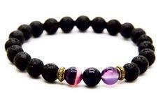 Amy Lava Rock Bracelet (all colors)