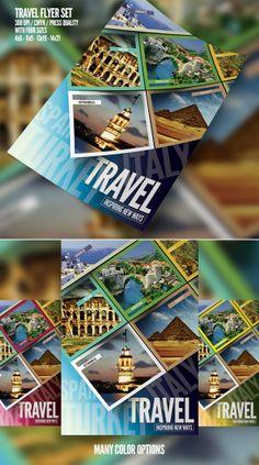 Corporate Style Flyer/Magazine Ads Templates by Serhat Özalp, via Behance