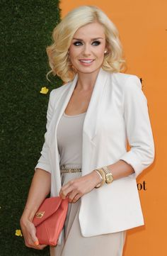 Katherine Jenkins Photos - Katherine Jenkins attends the Veuve Clicquot Gold Cup Final at Cowdray Park Polo Club on July 2012 in Midhurst, England. - The Veuve Clicquot Gold Cup Final Hottest Female Celebrities, Celebs, Katherine Jenkins, Charissa Thompson, Veuve Clicquot, Moda Vintage, Polo Club, Beautiful Outfits, Nice Outfits