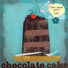 Elisandra Sevenstar - chocolate cake. Elisandra Sevenstar chocolate cake Poster online bestellen | Posterlounge