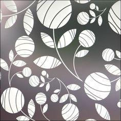 Artistic Flowers - Retro Looking Privacy Film Contemporary Window Film, Modern Window Film, Contemporary Window Treatments, Window Films, Contemporary Decor, Decor Styles, Mosaic, Windows, Stone