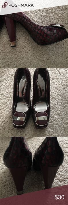 BCBGIRLS heels Dark purple heels - worn twice BCBGirls Shoes Platforms