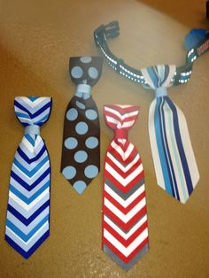 Pet ties - idea only, no instructions.   Slides right over collar