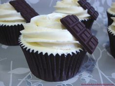 Cupcakes de dos chocolates, two chocolate cupcakes