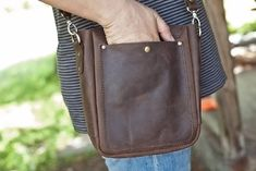 Brown Leather Croosbody Bag Gift for Men Father's Day   Etsy Men's Backpack, Leather Backpack, Mens Crossbody Bag, Casual Bags, Custom Bags, Leather Accessories, Office Bags, Brown Leather, Gifts