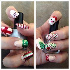 My finished Christmas nails.