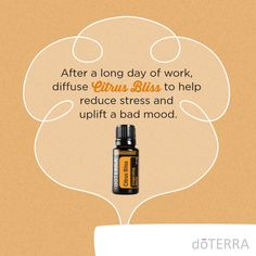 Need a boost after a long day of work? Diffuse 4-5 drops of Citrus Bliss Invigorating Blend to help uplift your mood.