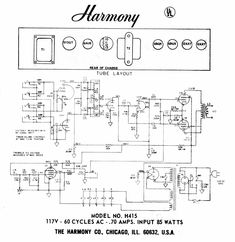 195 Best Guitar Amps and Circuits images in 2019 | Guitar amp ... Harmony Amp Schematic on