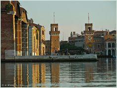 L'intérieur de l'Arsenal de Venise.