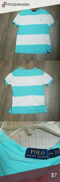 Men's polo ralph lauren t shirt Striped with a small stain Polo by Ralph Lauren Shirts Tees - Short Sleeve
