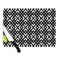 "KESS InHouse Dijagonala by Trebam Geometric Cutting Board Size: 0.5"" H x 15.75"" W x 11.5"" D"