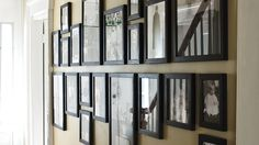 Picture an Easier Way and more on MarthaStewart.com. Hang pictures above and below a horizontal line