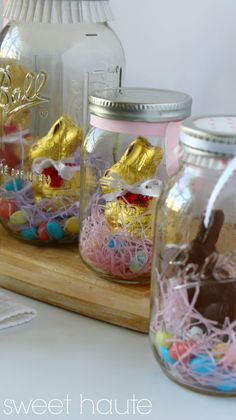 Easter Chocolate Bunny Mason Jars- SWEET HAUTE