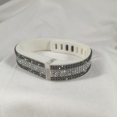 Fitbit Flex Swarovski crystal coconut by FuerstImpression on Etsy Fitbit Flex Bracelet, Fitbit Bands, Jewelry Accessories, Fashion Accessories, Swarovski Crystals, Bling, Jewels, Fit Bit, My Style