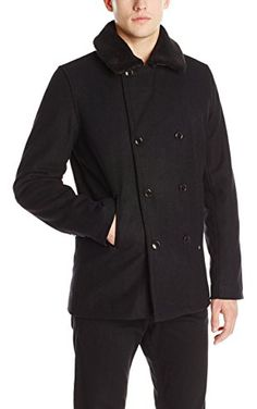 Halifax Traders Men&39s Wool Blend Peacoat Charcoal X-Large