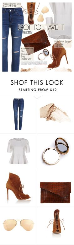 """Street Chic"" by pokadoll ❤ liked on Polyvore featuring NARS Cosmetics, Odeme, Gianvito Rossi, Ray-Ban and romwe"