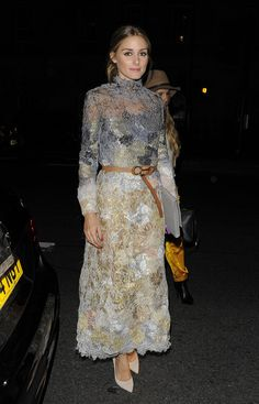 Olivia Palermo arriving at the Marchesa show in London. See all of the model's best looks.