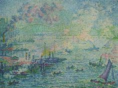 Paul Signac (French, 1863-1935) Rotterdam Harbour, 1907 1907 canvas, 87 × 114 cm (34.3 × 44.9 in), Museum Boijmans Van Beuningen, Rotterdam