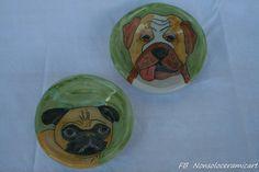 ciotole cani Carlino | handmade ceramic | Carlino, dog bowl