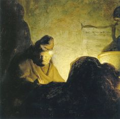 Rembrandt: A Scholar by Candlelight (1628-29)
