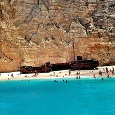#Navagio beach is the trademark of the island and is one of the most photographed places in #Greece. #Zakynthos