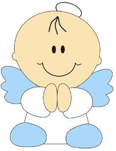 angeles de la guarda dibujos para colorear - Buscar con Google Applique Templates, Applique Patterns, Felt Crafts, Diy And Crafts, Baby Shawer, Baby Cards, Baby Quilts, Christening, Painted Rocks