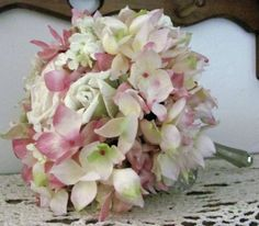 Wedding Bridal Bouquet Hydrangea Pink by flowerfilledweddings, $80.00