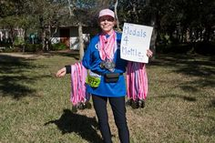 After the the 2011 26.2 with Donna National Breast Cancer Marathon, one of our Medals4Mettle volunteers walked around for two hours holding this sign, and 57 runners who had just finished their race donated their medals to be given to fighters and survivors of breast cancer!