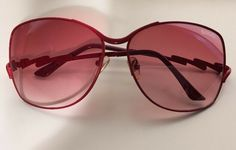 094fa558a41 Womens GUCCI Vintage Red Oversized Metal Sunglasses 62-13-130  fashion   clothing  shoes  accessories  womensaccessories   sunglassessunglassesaccessories ...
