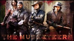 My latest desktop design for The Musketeers. (graphic by me - cathelms).