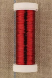 Fil métal fin - 0,20 mm bobine 20 m Coloris rouge