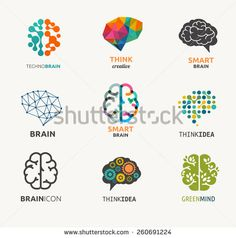Of Brain, Creation And Idea Icons And Elements. Vector Illustrations - 260691224 : ShutterstockCollection Of Brain, Creation And Idea Icons And Elements. Design Logo, Icon Design, Cv Photoshop, Brain Vector, Brain Icon, Logo Luxury, Brain Logo, Brain Illustration, Psy Art