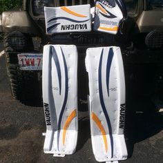 Vaughn Ventus setup with Blue/Yellow PadWrap applied.