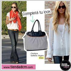 Transformá un outfit básico en uno muy chic con una buena cartera.  Conseguila en ➜ www.tiendadcm.com/venta/Cartera+Isabella+Negra/81842