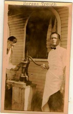 Antique photograph two men pumping water Selling on ebay