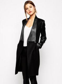2015 nueva estrella europea y americana de los nuevos modelos de cuero con costura delgado abrigo de lana largo femenino abrigo de lana en Lana y Mezcla de Moda y Complementos Mujer en AliExpress.com | Alibaba Group