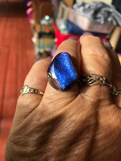 Blue dichroic adjustable ring