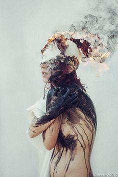Black paint: anxiety