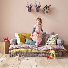 Kids sofa. Looks so comfy and colorful.