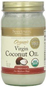 Amazon.com: Spectrum Coconut Oil, Organic Unrefined, 14 Ounce Tub (Pack of 3): Health & Personal Care