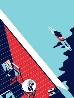 Discover more of the best Illustration, Malika, Favre, Minimal, and Geometric inspiration on Designspiration Art And Illustration, Illustration Design Graphique, Illustrations Posters, Malika Fabre, Pop Art, Poster S, Vintage Design, Grafik Design, Art Design