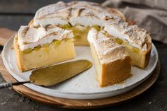 Rhabarber-Pudding Kuchen - Die Jungs kochen und backen - Der Foodblog aus Köln