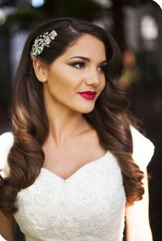 Jeweled Hair Clip - Wedding Hair Inspiration for Brides Who Hate Veils - Photos