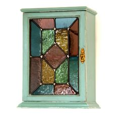 Little Stained Glass Fronted Wall Cabinet - Loved In