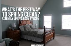 What's the Best Way to Spring Clean?  Assembly Line vs. Room by Room via Clean…