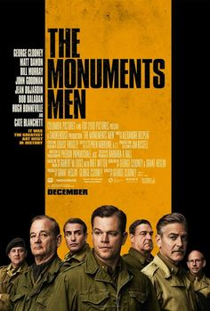 Póster de 'The Monuments Men', de George Clooney. Con Matt Damon, Bill Murray, Jean Dujardin, John Goodman, Hugh Bonneville y Bob Balaban