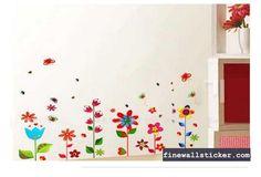 Removable Flower Butterfly Bedroom DIY Wall Sticker #Butterfly #wallsticker #flowerwallsticker #design #interiordesign #flower