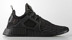 "Adidas revisits the ""Triple Black"" look on an upcoming NMD XR1 release."